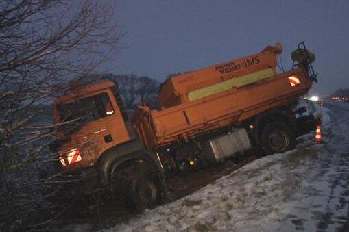 Verkehrsbehinderungen wegen Schnee und Glätte