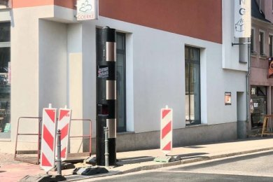 Der stationäre Blitzer am Meeraner Kunsthaus ist scharf geschaltet worden.