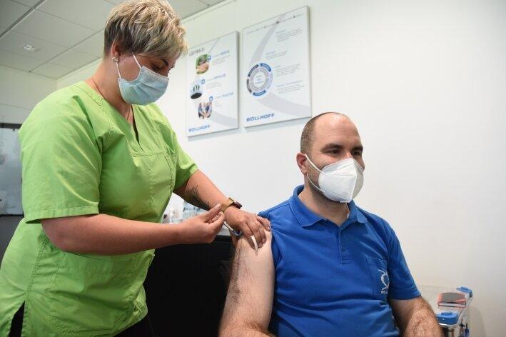Impfaktion im Industriegebiet