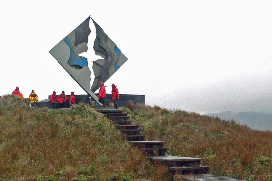 Unfallschwerpunkt: Das 1992 errichtete Denkmal für umgekommene Seeleute am Kap Hoorn.