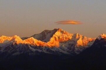 Bilder einer Indien-Tour: Der Berg Kangchendzönga.
