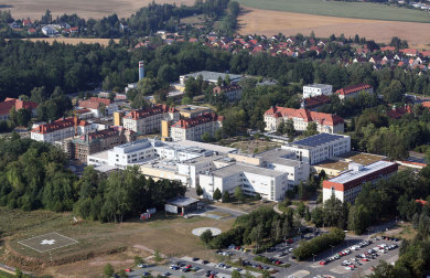 Blick auf das Zwickauer Heinrich-Braun-Krankenhaus, das größte im Landkreis.