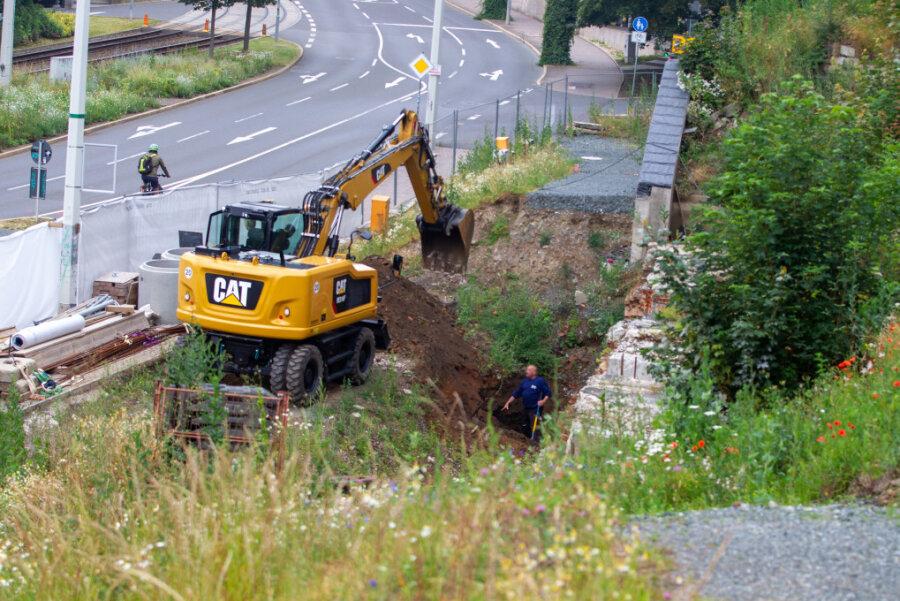 Suchaktion an der Syrastraße: Einen Steinwurf entfernt war dort im Juni 2019 eine Bombe entdeckt worden.