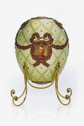 Das schlichte St.-Georgs-Orden-Ei war im Jahr 1916 das letzte Ostergeschenk von Zar Nikolaus II. an seine Mutter.