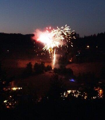 Ein Feuerwerk zum Abschluss der Zwoticher Körbe gehört dazu.