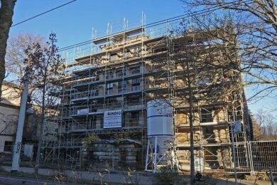 Die Villa Falck an der Äußeren Schneeberger Straße wird gegenwärtig saniert. Mit ihr hat man große Pläne.