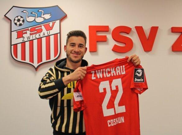 Can Coskun läuft ab sofort für den FSV Zwickau auf.