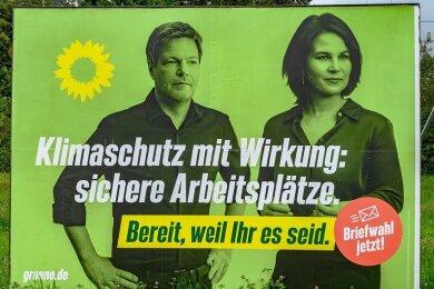 Wahlplakat der Grünen.