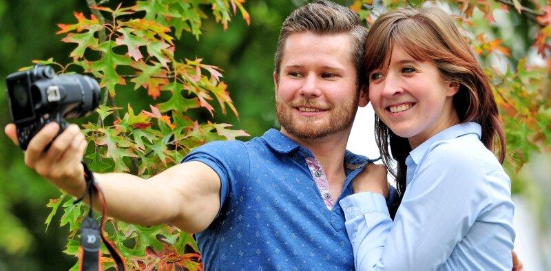 Martin Herberg mit seiner Freundin Sindy Weigang, die für ihn die ideale Partnerin ist und all seine Aktivitäten unterstützt.