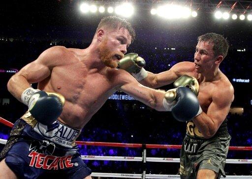 Golowkin (r.) und Alvarez (l.) beim Kampf im September