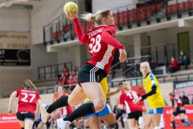 Die vom HC Rödertal nach Zwickau gewechselte Anna Frankova erzielte am Samstag in Halle sieben Tore für den BSV.
