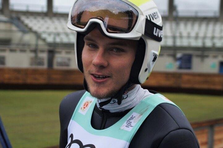Martin Hahn vom VSC Klingenthal tankte bei den Deutschen Meisterschaften im Oktober in Oberstdorf Selbstvertrauen.