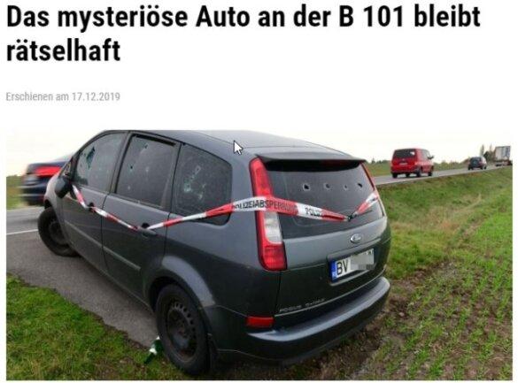Platz 1 geht unangefochten an das mysteriöse Auto an der B 101 bei Großschirma. 45.688 der Online-Leser klickten diesen Beitrag.