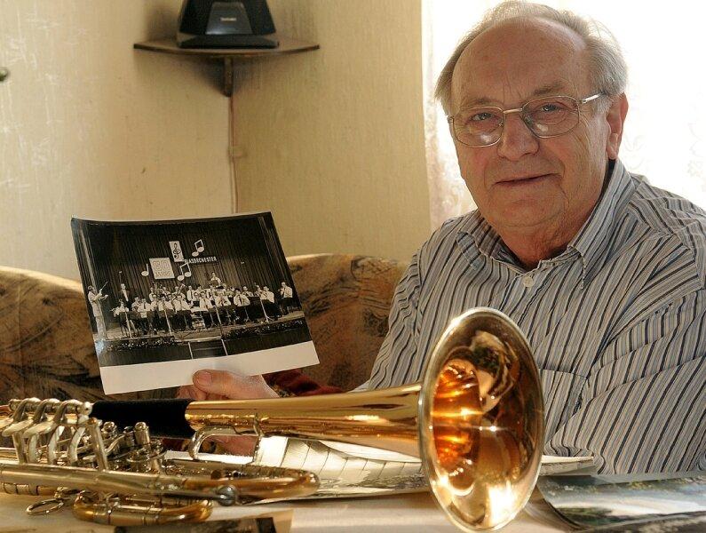 Gotthard Bergner hat die Mittweidaer Blasmusik über viele Jahrzehnte mitgestaltet.
