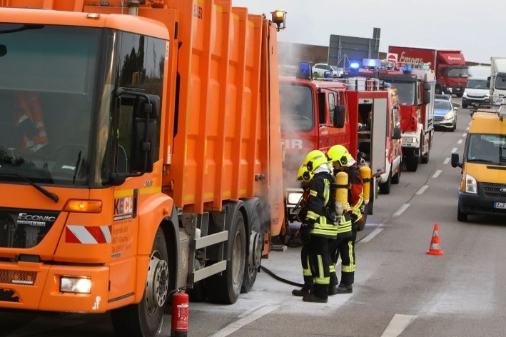 Feuerwehreinsatz auf A4