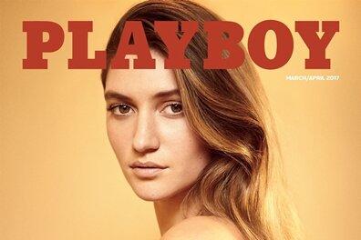 Elizabeth Elam auf dem Cover der neuen März-April-Ausgabe des US-Playboys.