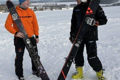 Sven Nebel und Niklas Kriegel (r.), die sich bereits seit ihrer frühen Kindheit kennen, streben die Fis-Lizenz an.