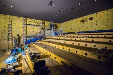 "Der große Kinosaal, ""nackig gemacht"", wie es Kinobetreiber Hendrik Pelzer formuliert."
