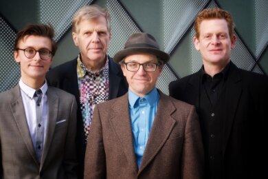 Torsten Zwingenberger (2. von links) kommt am Sonntag mit seinem Quartett mit Patrick Braun, Kenneth Berkel und Carmelo Leotta zum Konzert ins König-Albert-Theater Bad Elster.