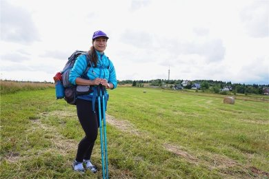 """Auf ihren Wanderungen trifft Lenka Hornychová oft keine Leute. Angst, allein zu wandern, habe sie nicht. """"Meine Erfahrung ist, dass es im Gebirge nur gute Menschen gibt."""""""