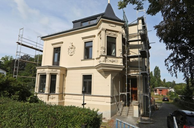 Diese Villa an der Martinistraße 8 ist im Jahr 1866 gebaut worden und gehört zu den ältesten Gebäuden im Glauchauer Villenviertel.