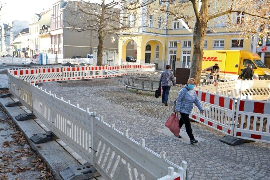 Taubenmarkt: Baustelle ruht drei Wochen