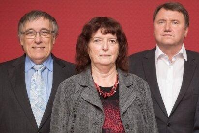 Die Leserfragen beantworteten (v. l.) die Notare Georg Liessem (Pirna), Marlies Scholz (Freiberg), André Kuckoreit (Chemnitz) und Georg Schildge (Dresden).