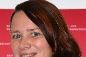 Sandra Neubert - Feuerwehrfrau undeines der Gesichter der Werbekampagne.