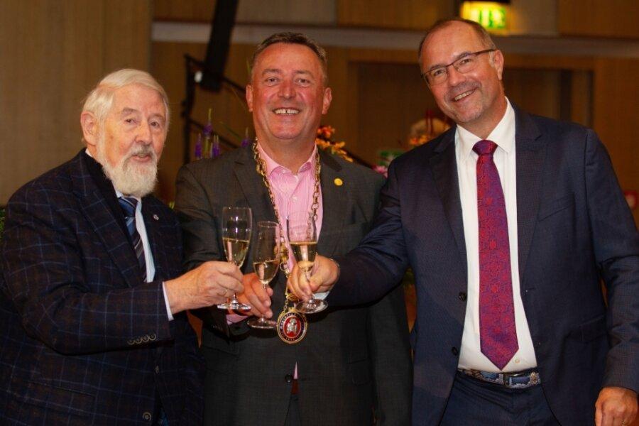 Alt-OB, Noch-OB, Neu-OB: Rolf Magerkord, Ralf Oberdorfer und Steffen Zenner (von links).