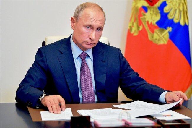 Vorbild oder Schreckgespenst? Wladimir Putin, Präsident von Russland, bei einer Telefonkonferenz.