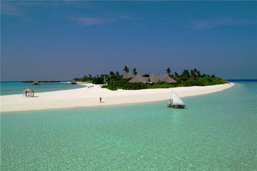 Eine von fast 1200 Trauminseln: Coco Palm Dhuni Kolhu im Baa-Atoll, das die Unesco in Teilen zum Biosphärenreservat erklärt hat.