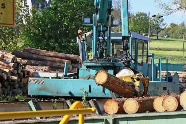 Obwohl das Sägewerk in Bärenwalde an seiner Kapazitätsgrenze arbeitet, kann es derzeit die gestiegene Nachfrage an Bauholz nicht befriedigen, werden aktuell keine Aufträge von privaten Kunden entgegengenommen.