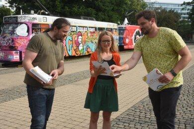 Tobias Möller, Stephanie Meichsner-Eschborn und Marcus Heinke (von links) vom Netzwerk für Kultur- und Jugendarbeit.