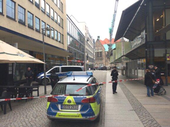 Bombendrohung am Donnerstagnachmittag in der Chemnitzer Innenstadt