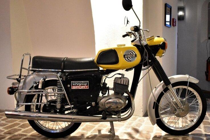 Die MZ ETS 150/1 steht schon im Motorrad-Museum im Zschopauer Schloss Wildeck.