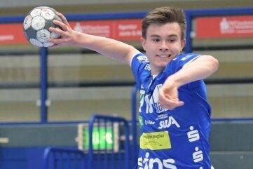 Ein Lichtblick trotz Niederlage: Aues Jungspund Jannik Dutschke steuerte fünf Tore bei.