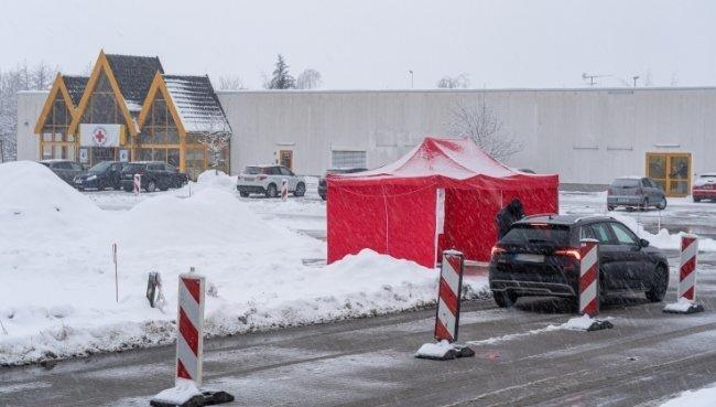 Das vogtländische Impfzentrum in Eich.