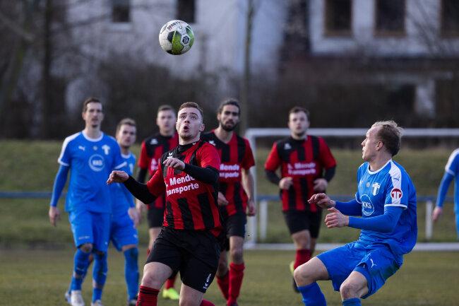 Erfolgreiches Debüt: Felix Hennig, der in der Winterpause aus Hohenstein-Ernstthal nach Mittweida kam, traf in seinem ersten Pflichtspiel gleich doppelt.