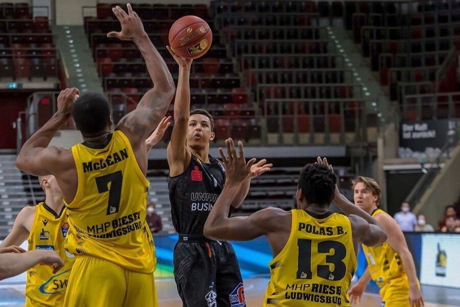 Er kam, sah und traf: Niners-Talent Brendan Gregori machte in Ludwigsburg zwei Punkte.