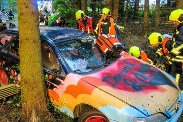Zahlreiche Rettungskräfte waren an der Übung beteiligt.