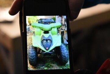 Dieses Quad, hier auf dem Smartphone zu sehen, wurde gestohlen.