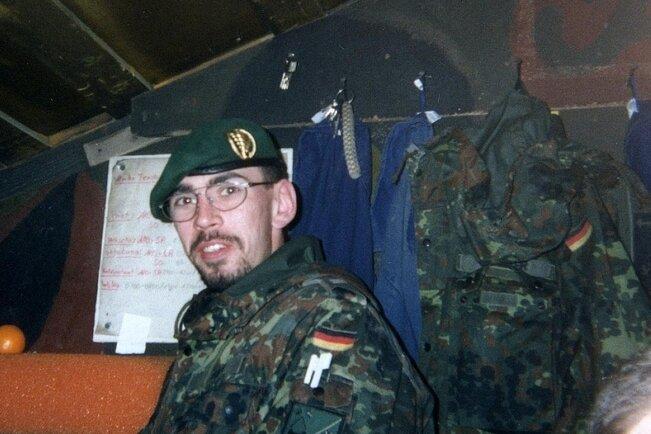 Eines der letzten Fotos von André Horn: Der Marienberger Zeitsoldat starb beim Auslandseinsatz im Kosovo - woran, ist bis heute umstritten.