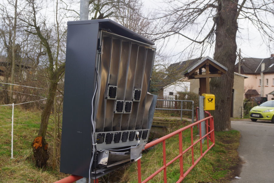 Erneut Automat in Westsachsen gesprengt