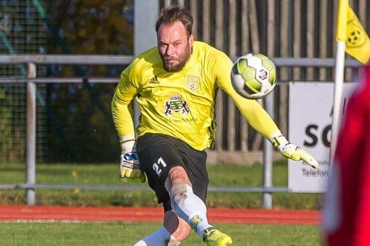 Torhüter Toni Grabowski strebt mit dem FSV Motor Marienberg den nächsten Sieg an - es wäre der dritte in Folge.