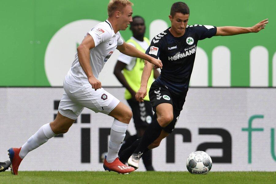 FC Erzgebirge Aue gewinnt 2:0 gegen Greuther Fürth