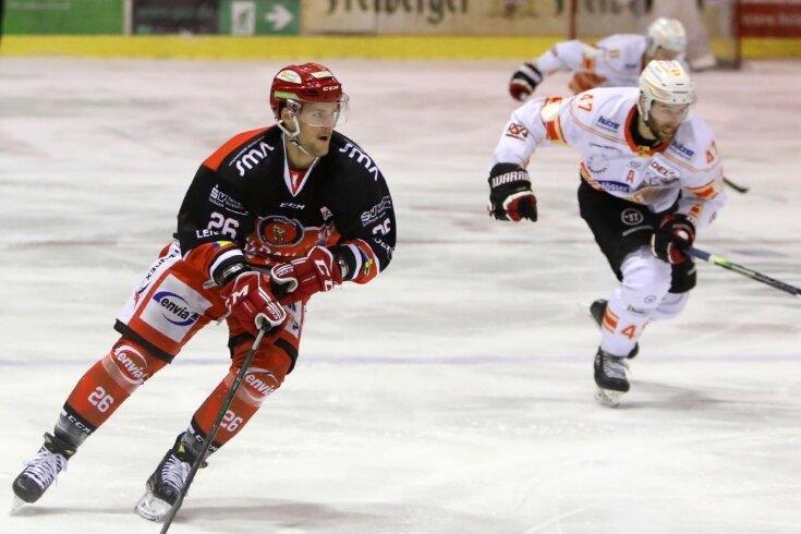 Tino Gams beim Spiel im März gegen Kaufbeuren.
