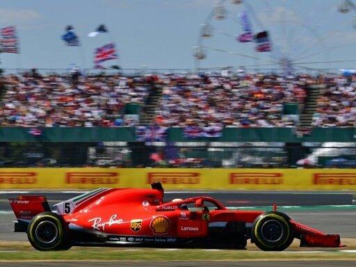Vettel führt das Rennen in Silverstone weiter an