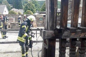 Das Pochwerk weist Brandschäden auf.