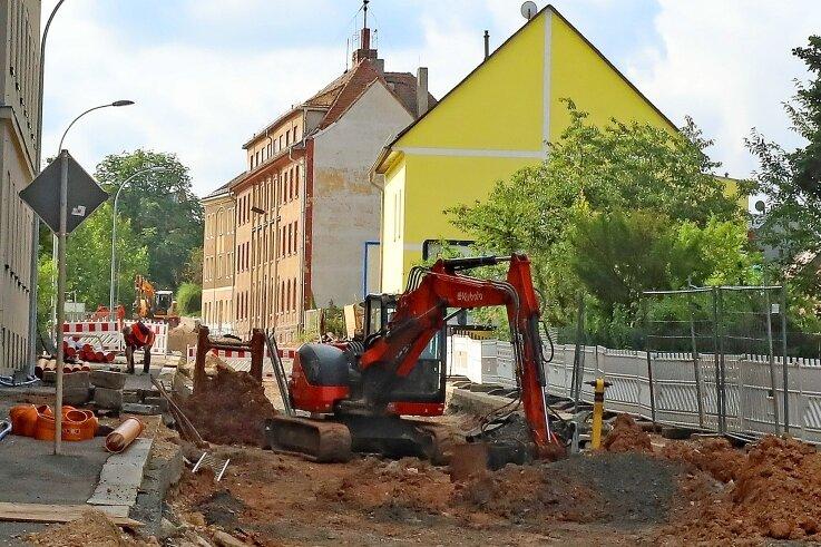 In der Straße am Sternplatz wird noch gebaut.