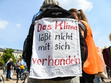 Schülerinnen und Schüler der Fridays for Future-Bewegung demonstrieren.